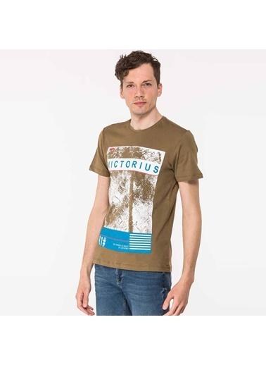 Slazenger Slazenger TANYA Erkek T-Shirt Haki Haki